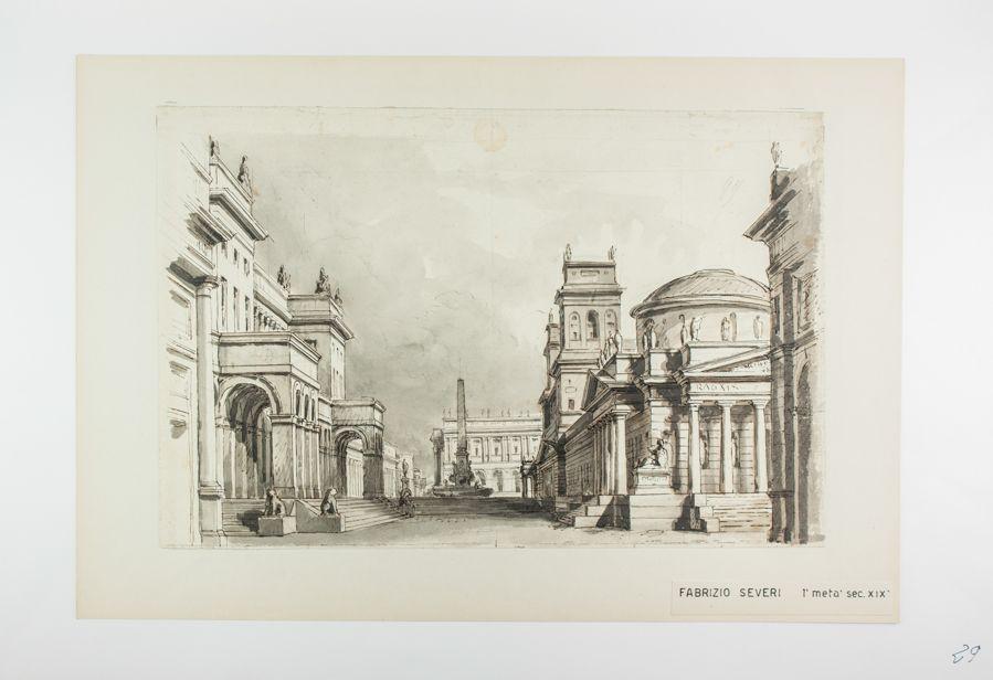 Molto Fabrizio Severi : Scenografia architettonica. (Teatro alla Scalà  SX79