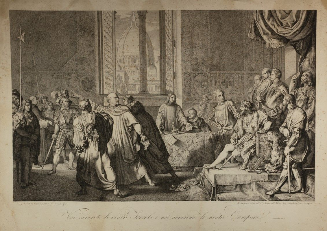 luigi sabatelli (firenze, 1772 - milano, 1850) : pier capponi ... - Libreria Antiquaria A Milano