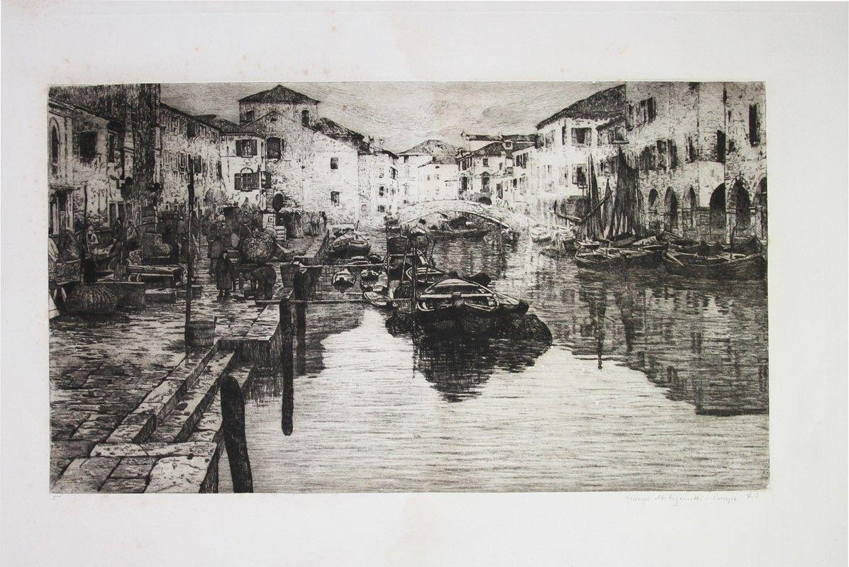 giuseppe miti zanetti (modena, - milano, 1929) : canale della ... - Libreria Antiquaria A Milano