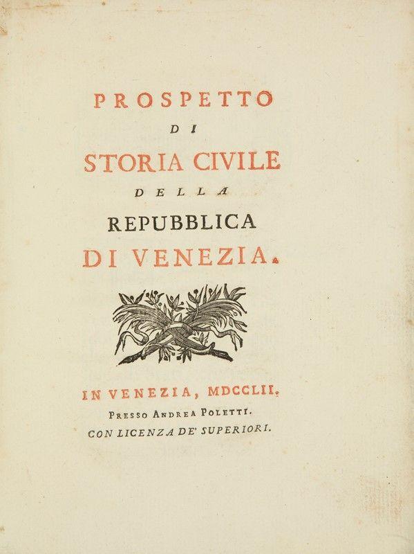Sandi vittore prospetto di storia civile della for 2 case di storia in florida