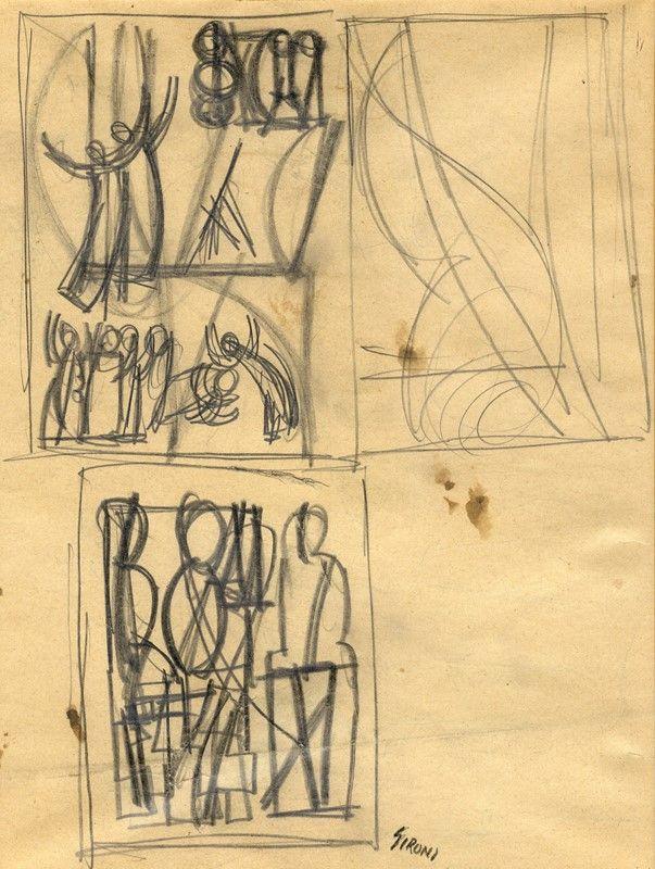 mario sironi (sassari, 1885 - milano, 1961) : studi di figure ... - Libreria Antiquaria A Milano