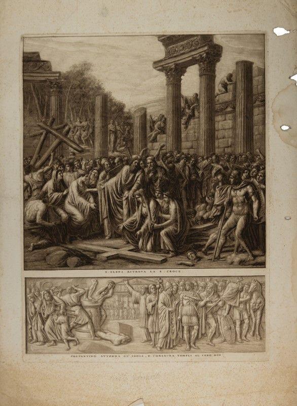 luigi ademollo (milano, 1764 - firenze, 1849) : s. elena ritrova ... - Libreria Antiquaria A Milano