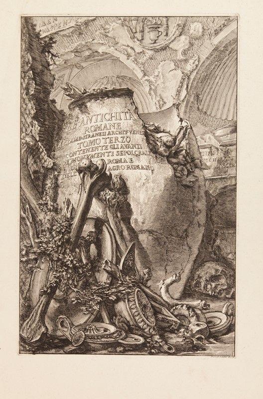 Giovanni battista piranesi mogliano veneto 1720 roma 1778 lotto di 5 tavole da le - Le 12 tavole romane ...