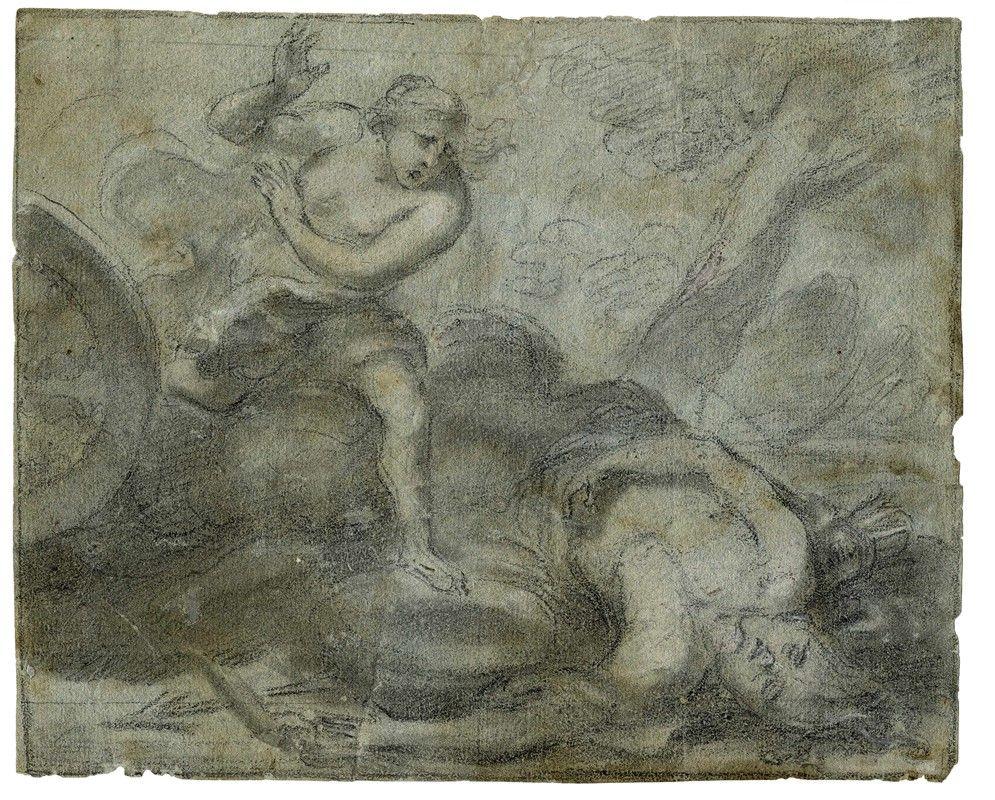 Scuola italiana del xvii secolo lotto di due disegni for Abbellimento del lotto d angolo