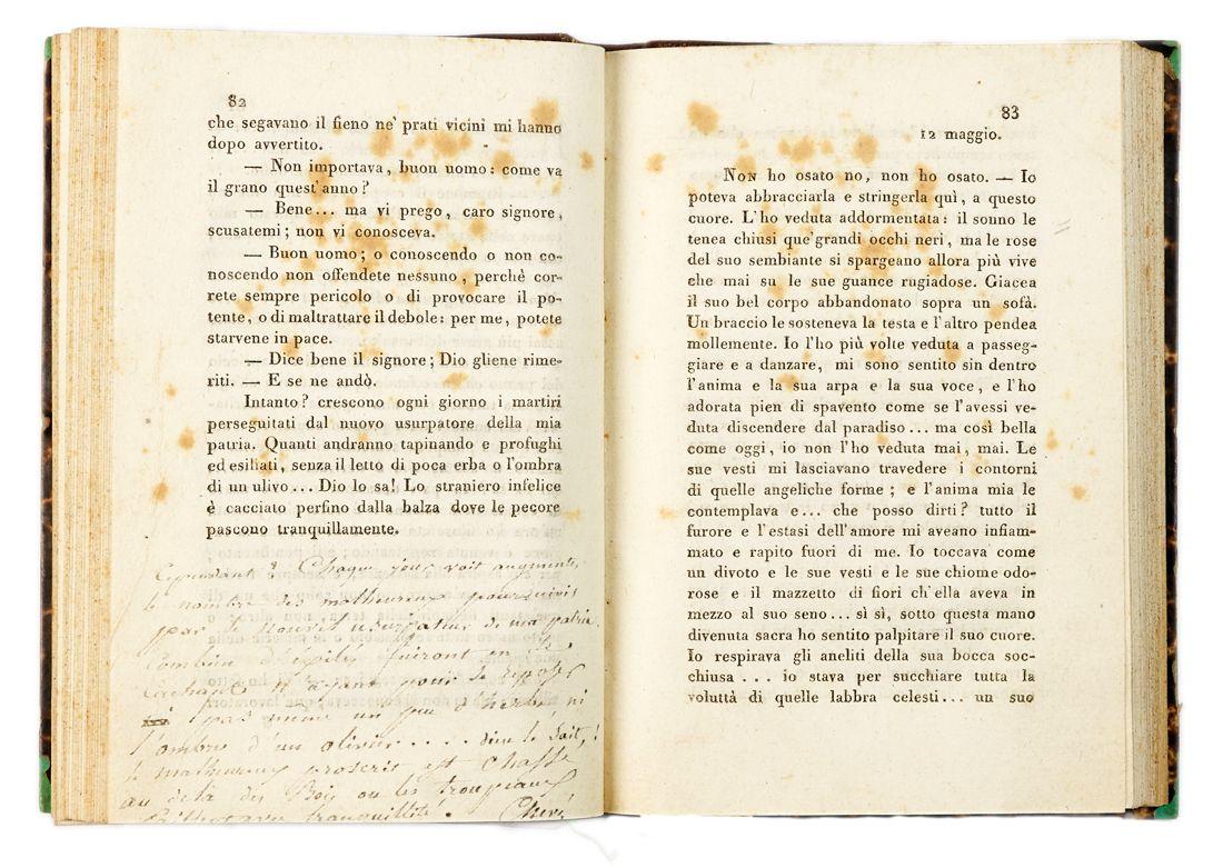 Foscolo Ugo : Ultime lettere di Jacopo Ortis  - Asta Libri