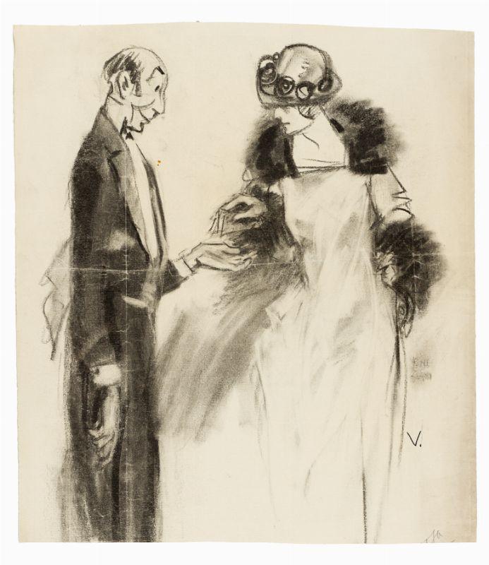 ubaldo cosimo veneziani (bologna, 1894 - milano, 1956) : coppia di ... - Libreria Antiquaria A Milano