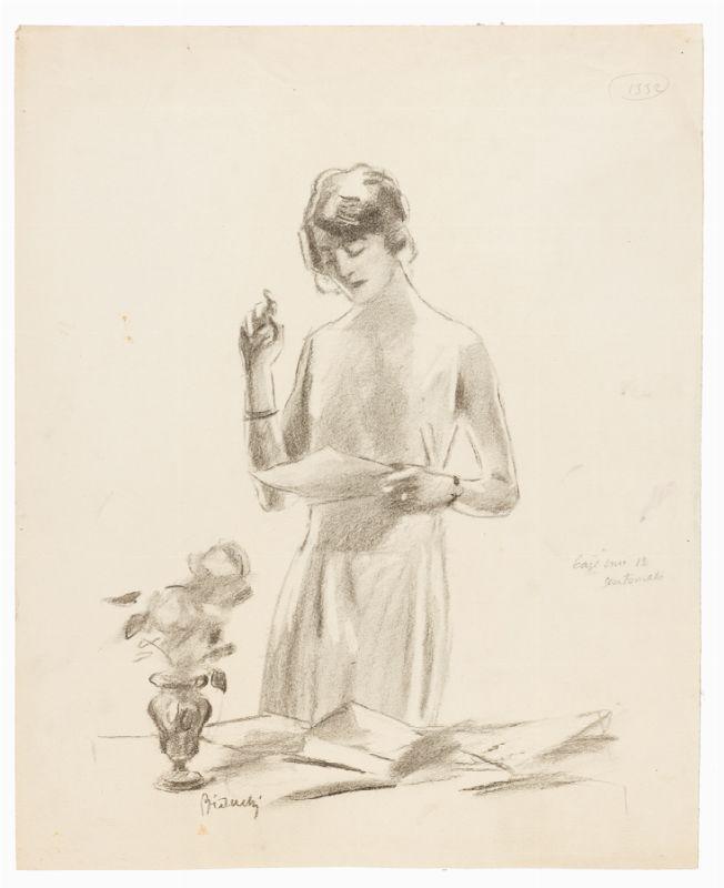 alberto bianchi (rimini, 1882 - milano, 1969) : coppia di disegni ... - Libreria Antiquaria A Milano