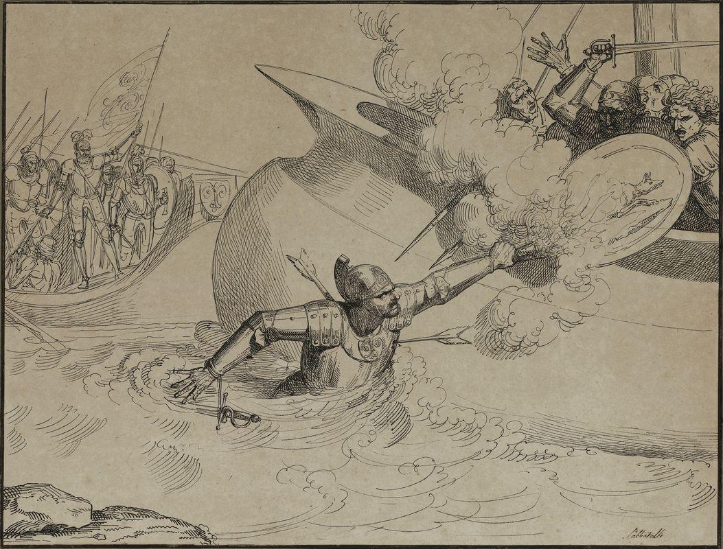 luigi sabatelli (firenze, 1772 - milano, 1850) : scena di ... - Libreria Antiquaria A Milano