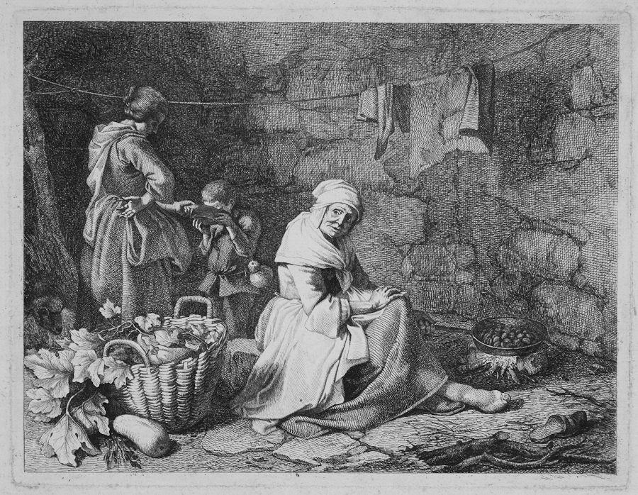 francesco londonio (milano, 1723 - 1783) : interno contadino con ... - Libreria Antiquaria A Milano