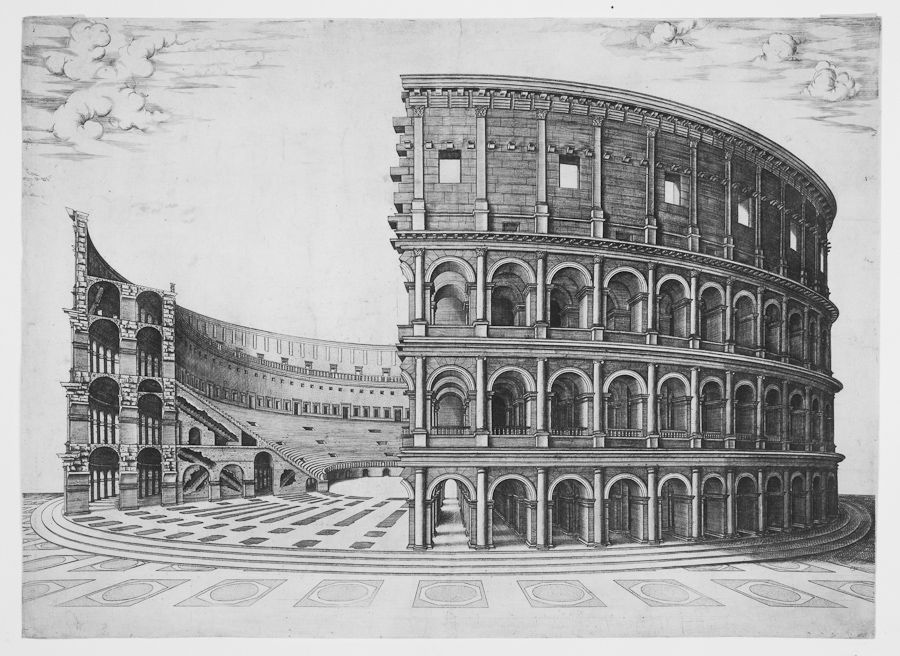 Antoine lafr ry salins 1512 roma 1577 excudit for Colosseo da colorare