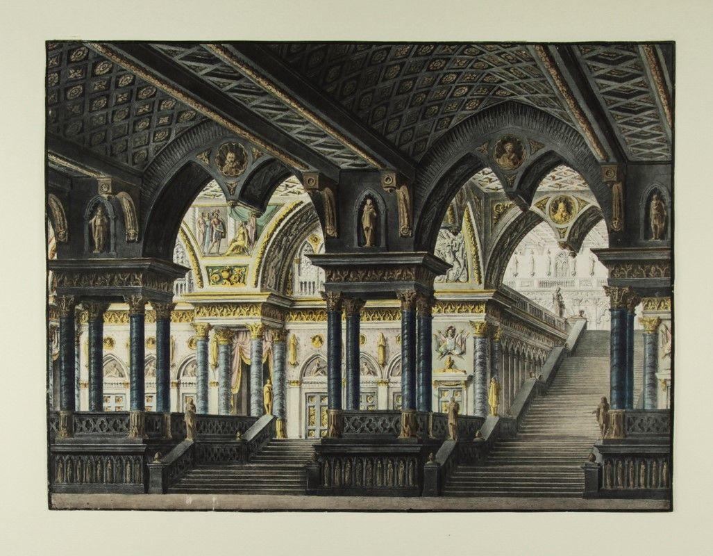 pasquale canna (milano, - 1874) [da] : scenografia teatrale per l ... - Libreria Antiquaria A Milano
