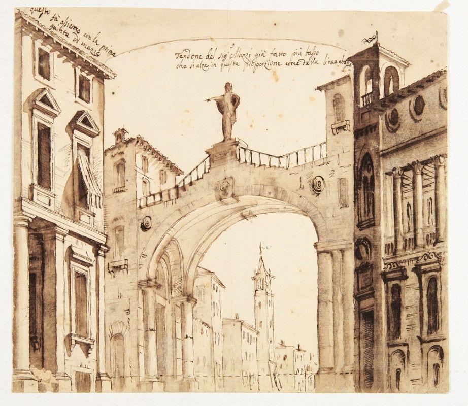 Vincenzo mazzi attribuito a tendone del signor mazzi for Abbellimento del lotto d angolo