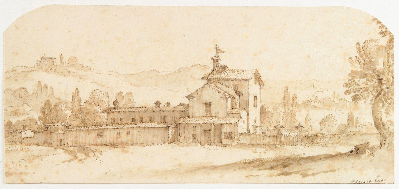 Mauro tesi montalbano 1730 bologna 1766 veduta di for Disegni di cabina di campagna