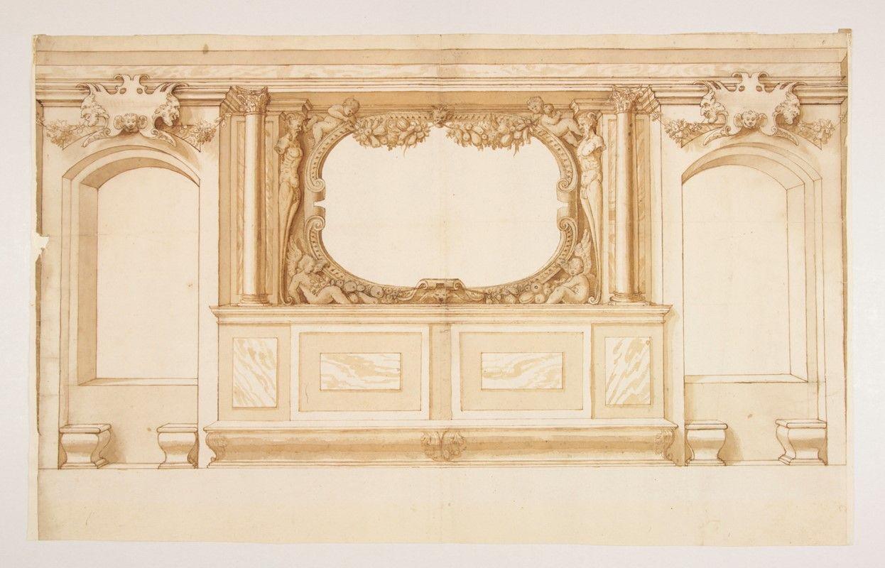 Studio di decorazione di parete con due finestre for Decorazione finestre