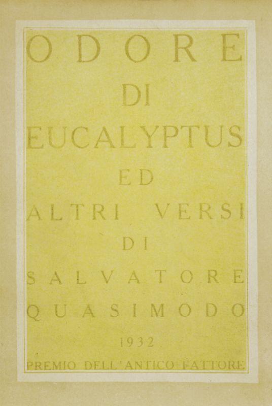 Quasimodo salvatore odore di eucalyptus ed altri versi libero andreotti pescia 1875 - Odore di fogna in casa cause ...