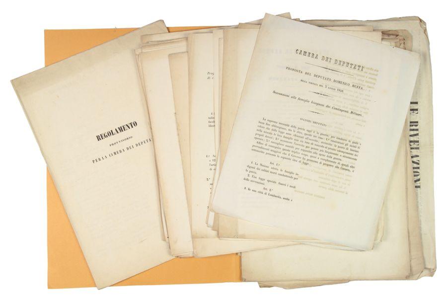 Lotto di stampati della camera dei deputati dal 1848 for Camera dei deputati rassegna stampa