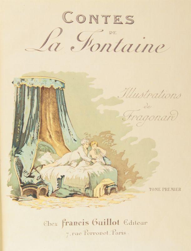 Contes de La Fontaine avec illustrations de Fragonard. Tome 2 - Jean de La Fontaine