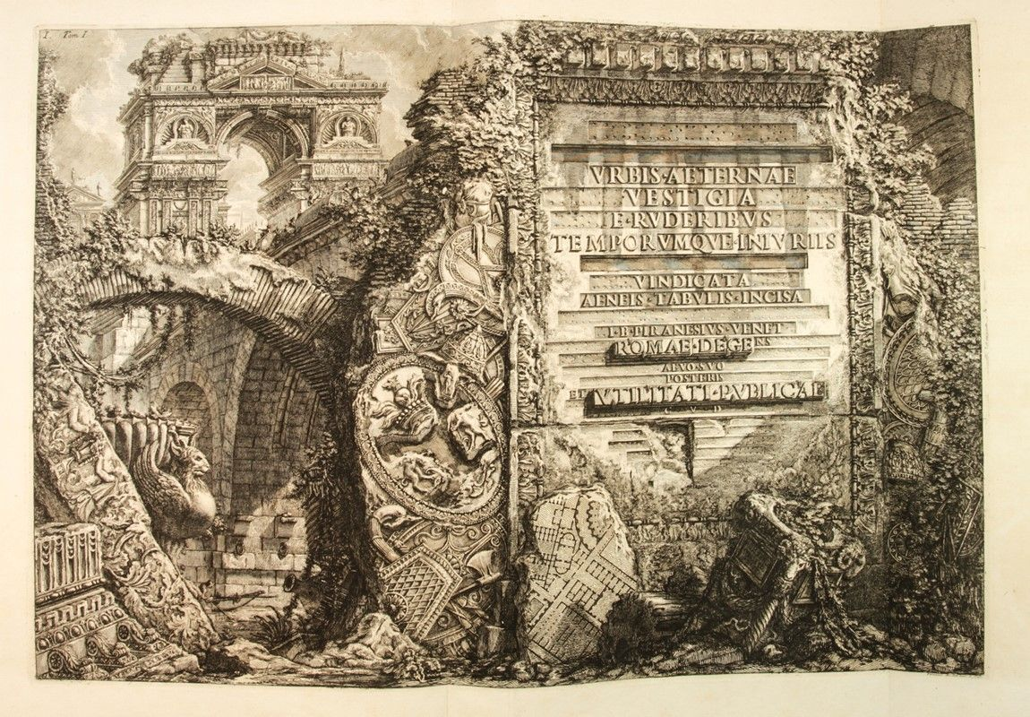 Piranesi giovanni battista le antichit romane asta stampe e disegni libreria - Le 12 tavole romane ...