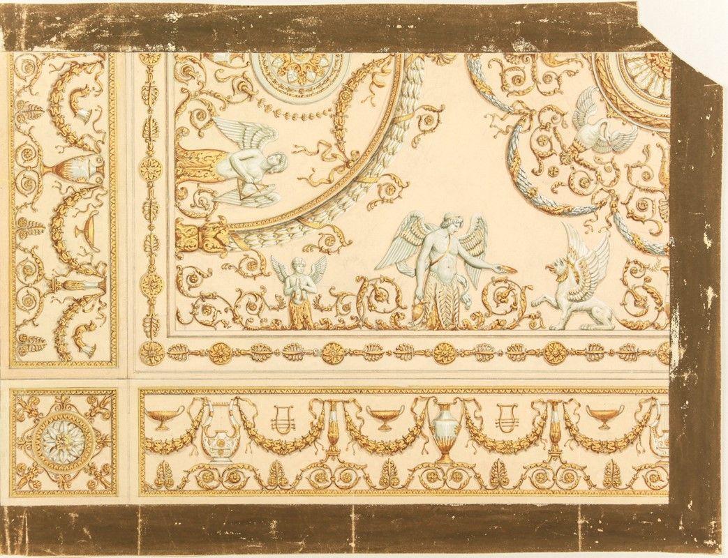 Paolo benedetti firenze 1880 lotto di 7 disegni - Decorazioni per soffitti ...