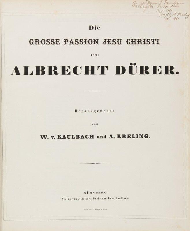 D rer albrecht d rer album herausgegeben von w v kaulbach und a kreling wilhelm von - Comprare casa a monaco di baviera ...