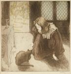La peite fille au chat, 1897.