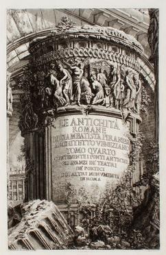 Giovanni Battista Piranesi  (Mogliano Veneto, 1720 - Roma, 1778)