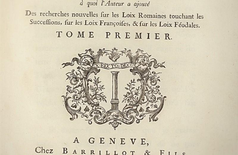 "Montesquieu, ""De l´esprit des loix"". 1748"