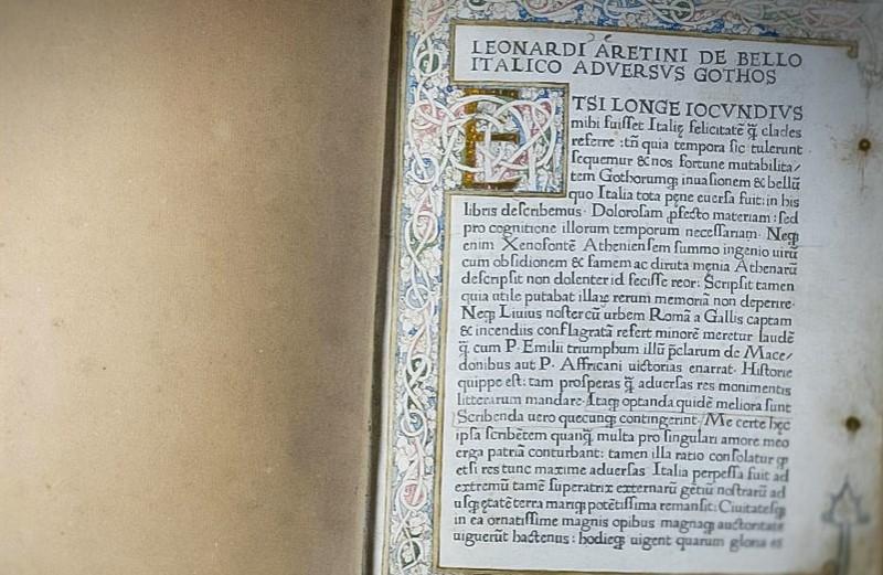 """Leonardo Bruni """"De bello italico adversus Gothos"""". 1470"""