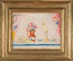 James Ensor, Fleurs et statuette