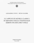 Vol.17 - Gli appunti di metrica classica di Giovanni  [..]